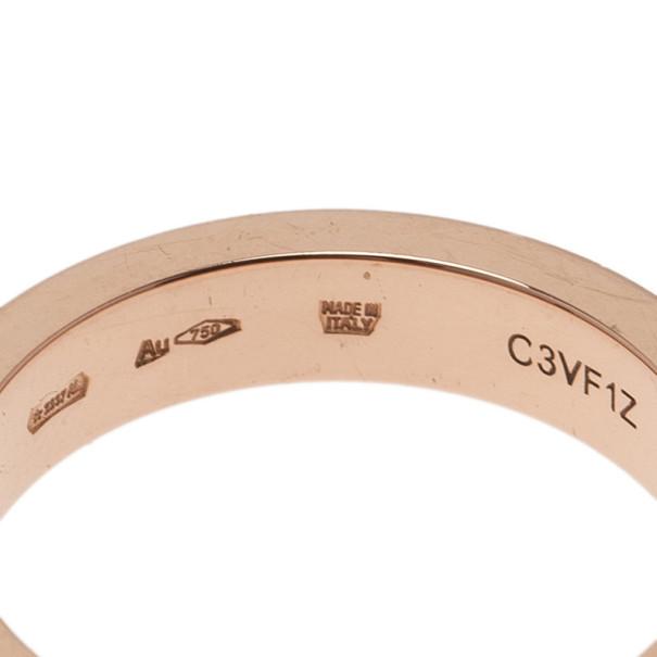 Bvlgari Bvlgari 18K Rose Gold and Diamond Band Ring Size 56