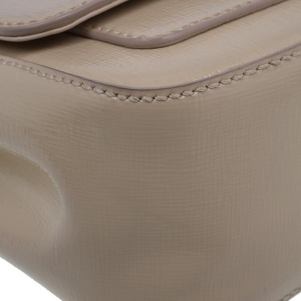 Fendi Nude Leather Mini Borsa Crossbody