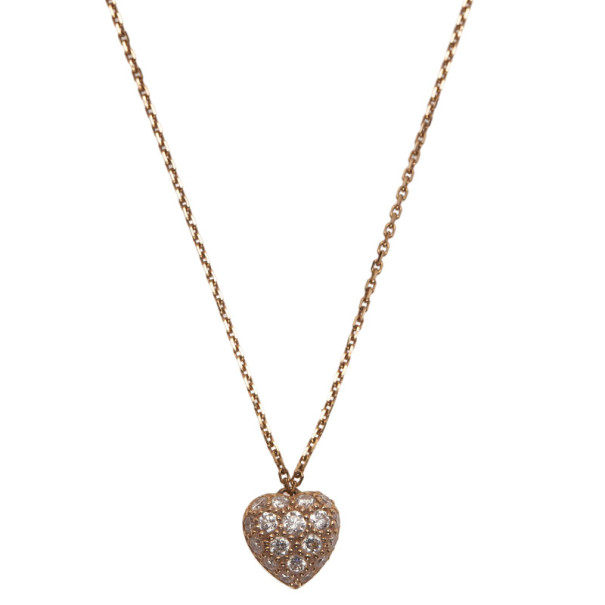 Cartier Hearts of Cartier 18K Rose Gold Pendant Chain Necklace