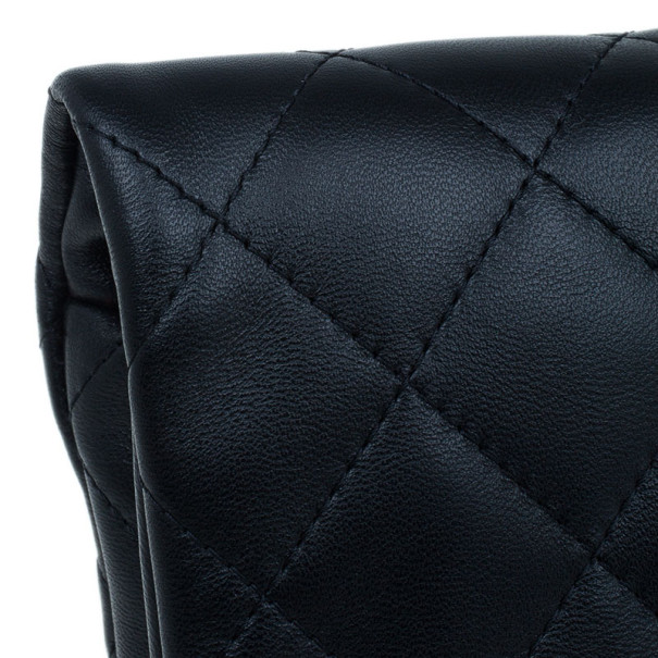 Chanel Black Lambskin Beauty CC Clutch