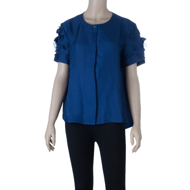 Victoria Beckham Floral Detail Applique Top M