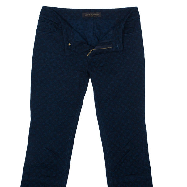 Louis Vuitton Blue Monogram Denim Pants S