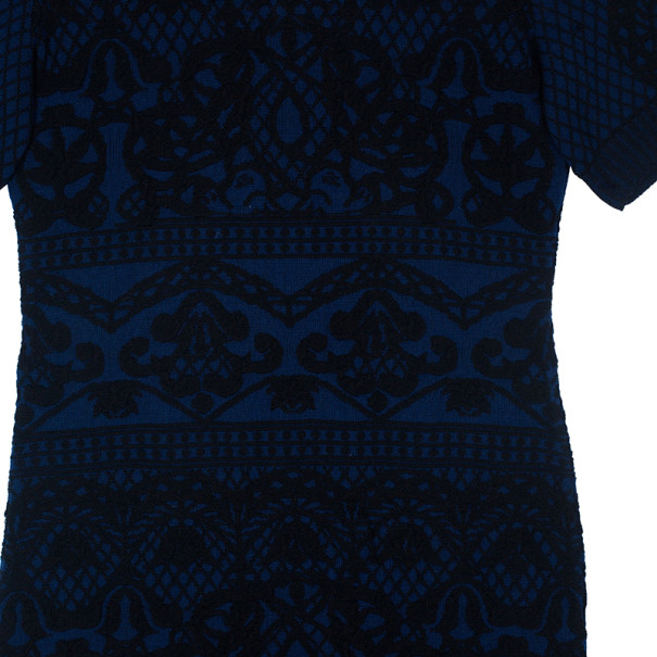 Alberta Ferreti Knit Turtleneck Dress M