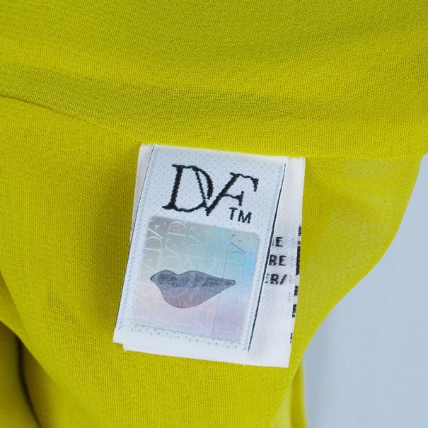 Diane Von Furstenberg New Liluye One Shoulder Silk-crepe Dress M