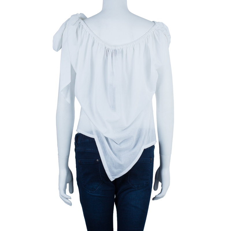 Vivienne Westwood Anglomania White Off-Shoulder Top M