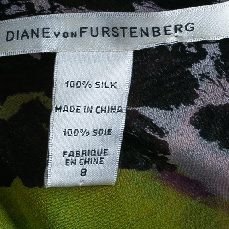 Diane von Furstenberg Multicolor Print Marroca Top M