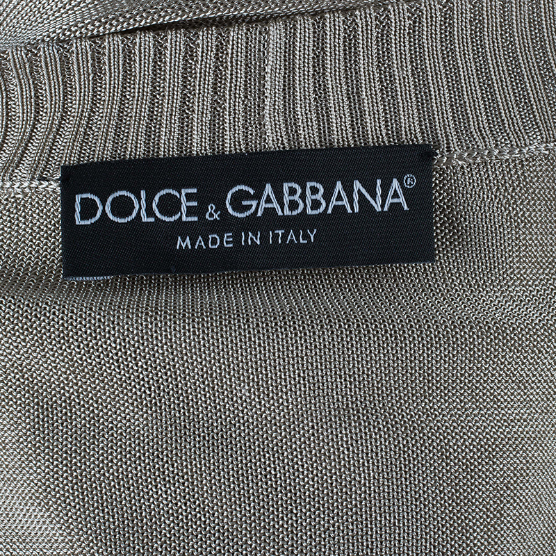 Dolce and Gabbana Beige Cardigan M