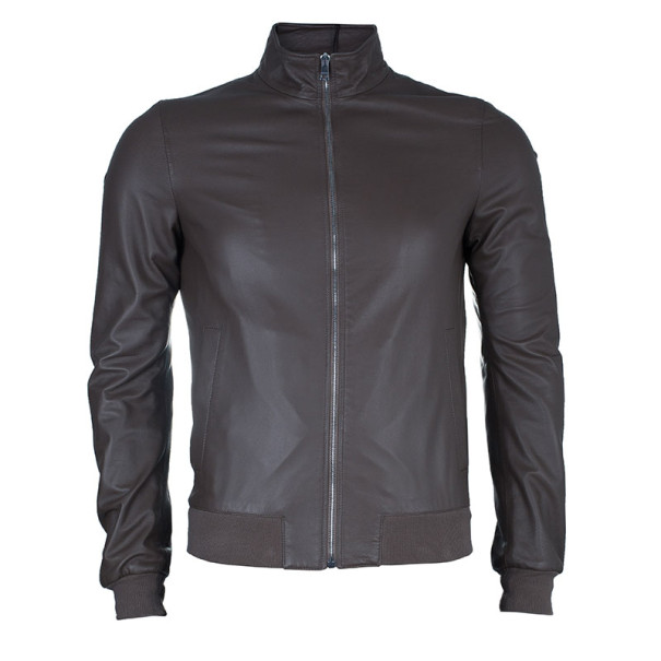 Gucci Brown Men's Nappa Leather Jacket S