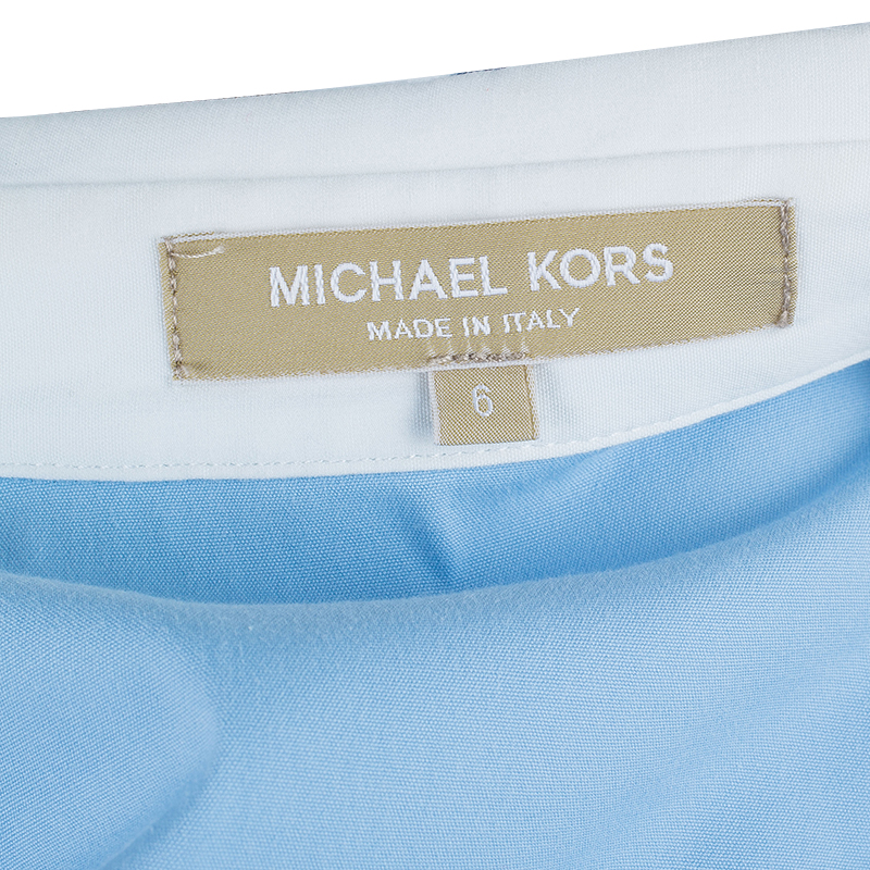 Michael Kors Blue Shirt Dress M