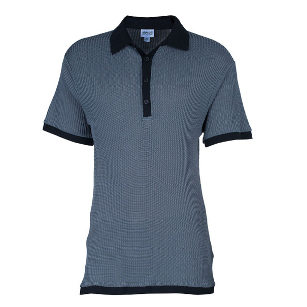 Armani Collezioni Silk Classic Men's Polo Shirt XL