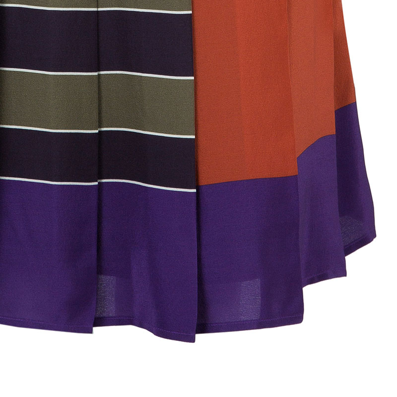 Max Mara Colorblock Knee Length Skirt L
