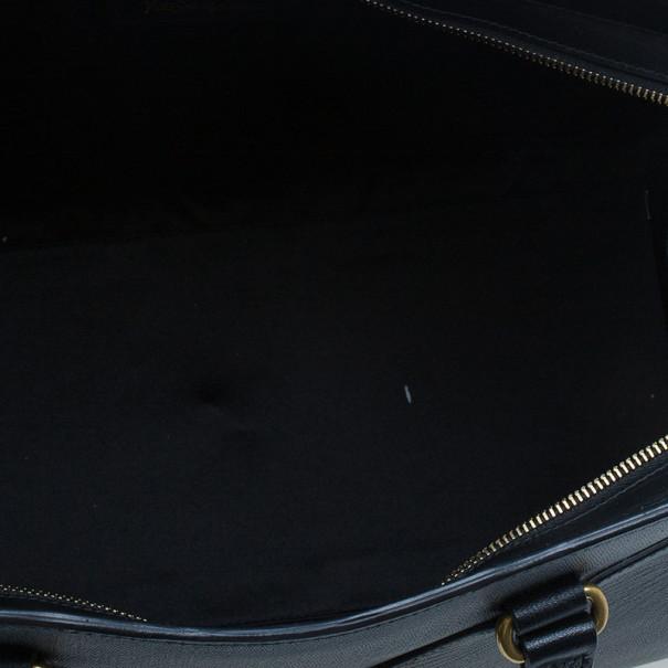 Saint Laurent Paris Black Cabas Chyc Medium Satchel
