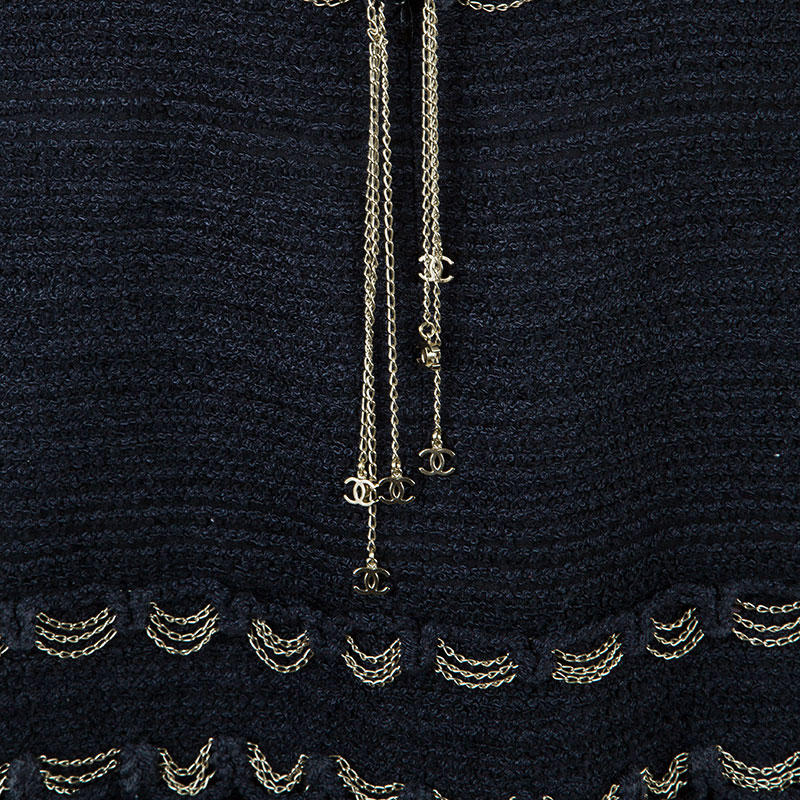Chanel Tweed Chain Detail Dress S