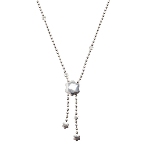 Montblanc Star Sparks Silver Lariat Necklace
