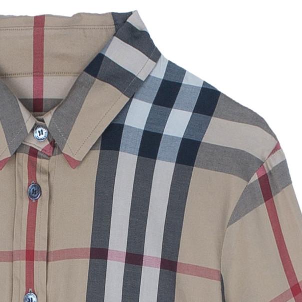 Burberry Brit Novacheck Cotton Shirt S
