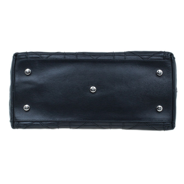 Dior Black Leather Granville Tote