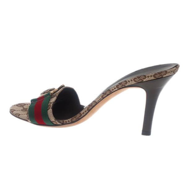 Gucci Guccissima Web Detail Hysteria Slides Size 38.5