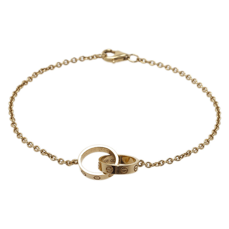 Cartier Love 2 Hoops Yellow Gold Bracelet