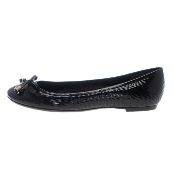 Louis Vuitton Black Epi Electric Debbie Ballet Flats Size 38
