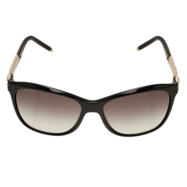 Bvlgari Black Ruffle Cat Eye Sunglasses