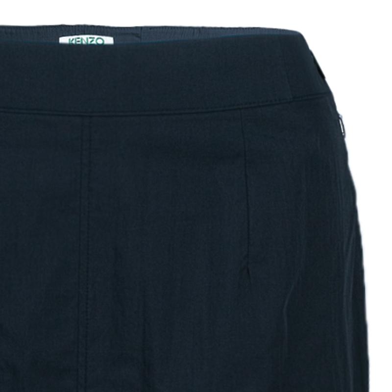 Kenzo Black A-Line Maxi Skirt M