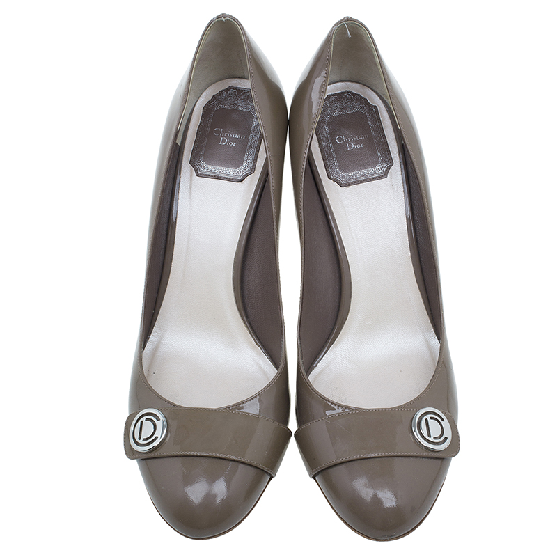 Dior Grey Patent Pumps Size 38.5