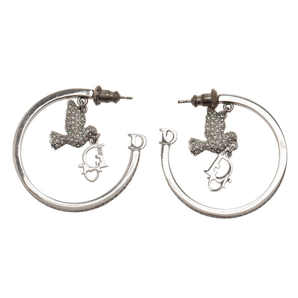 Dior Crystal Hoop Earrings