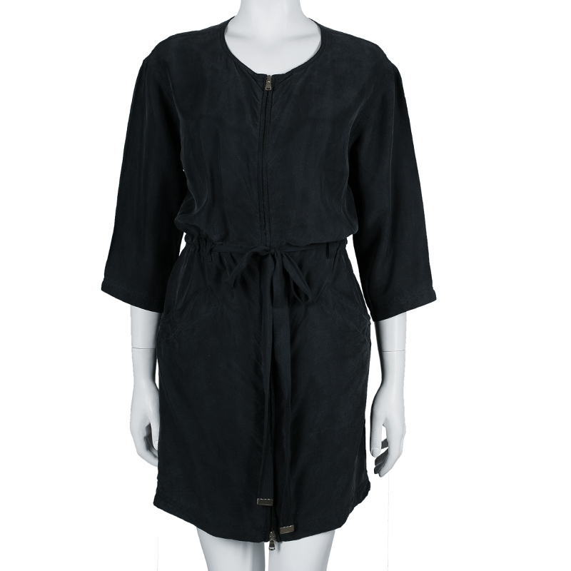 Marc by Marc Jacobs Black Zip Detail Dress S