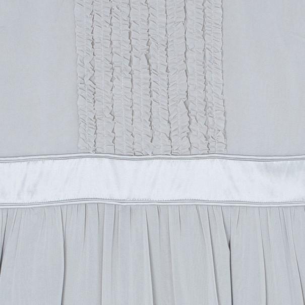 Burberry Beige Frill Detail Dress M