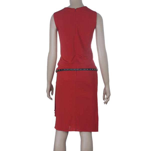 Gucci Drop-waist Belted Dress S