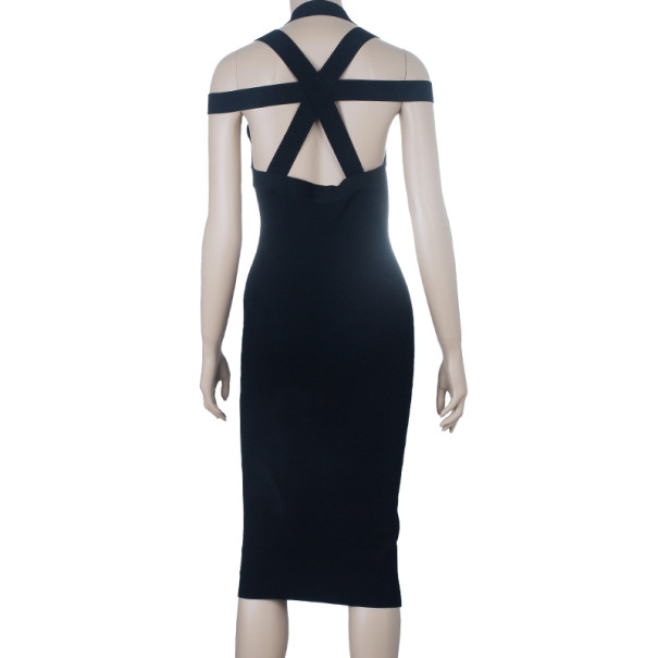 Michael Kors Criss-Cross Detail Cocktail Dress S