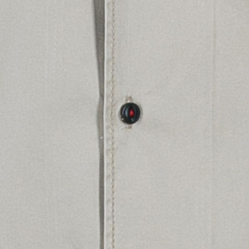Dsquared Khaki Military Style Embroidered Short Sleeve Shirt M