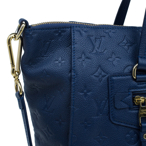 Louis Vuitton Blue Monogram Leather Empreinte Lumineuse PM