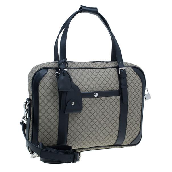 Gucci Black Monogram Canvas Diamante Briefcase