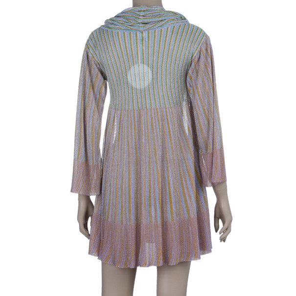 M Missoni Metallic Trapeze Dress S