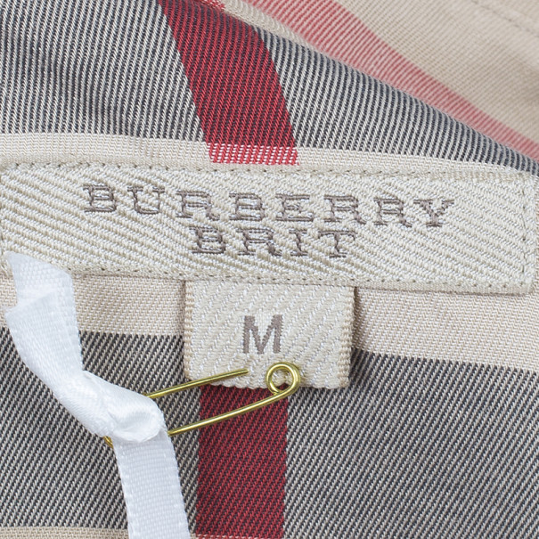 Burberry Novacheck Long Sleeved Shirt Top M