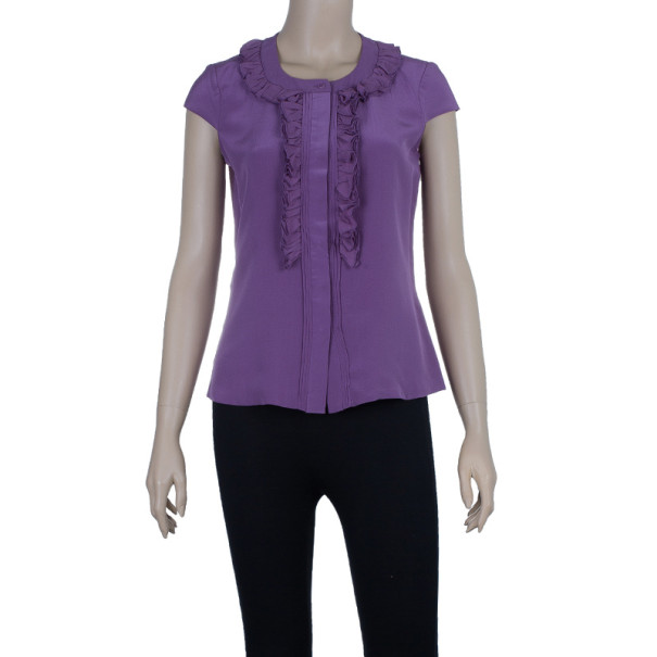 CH Carolina Herrera Silk Shirt Top S