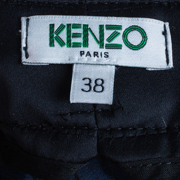 Kenzo Geometric Embroidered Pants S