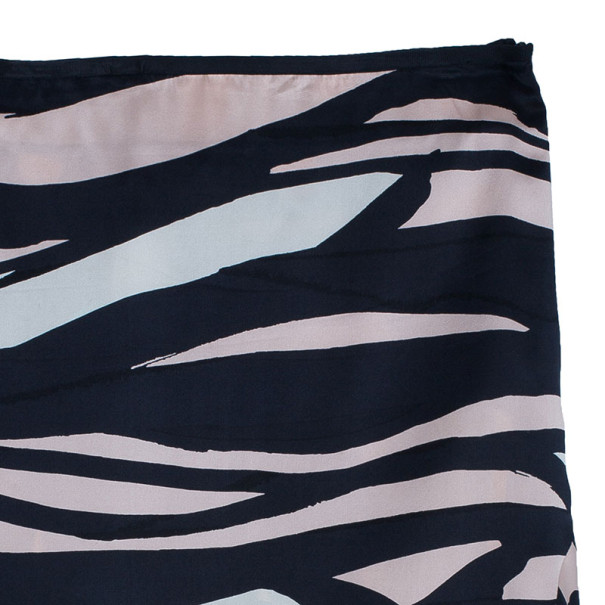 M Missoni Printed Silk Skirt M