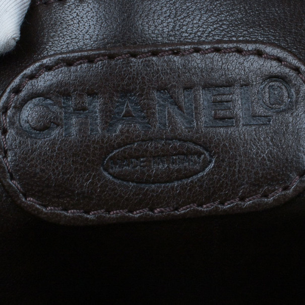 Chanel Brown Vintage Mink Tortoise Chain Tote