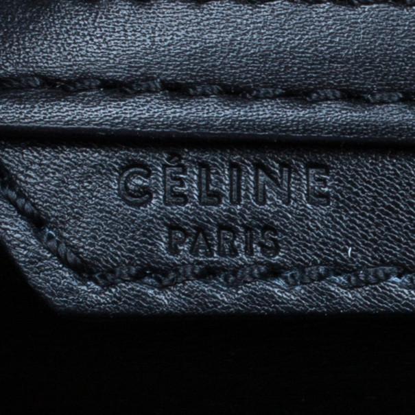 Celine Tricolor Smooth Leather Mini Luggage Tote