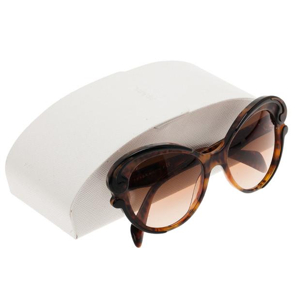 Prada Tortoise Frame Minimal Baroque Butterfly Sunglasses