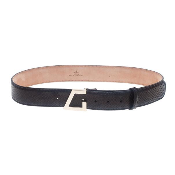 Gucci Black Python Belt 90CM