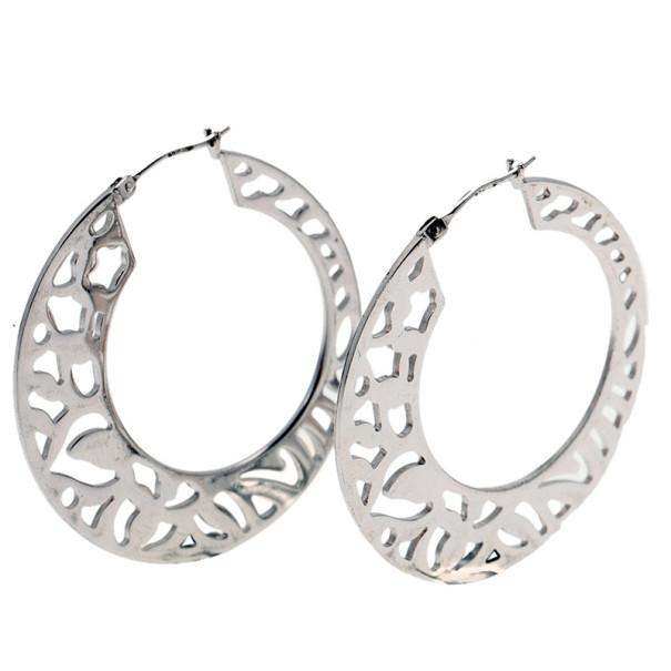Kenzo Silver Hoop Earrings