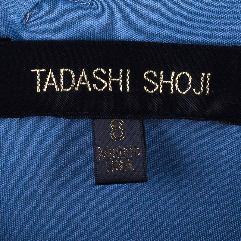 Tadashi Shoji Periwinkle Blue Embellished Gown M