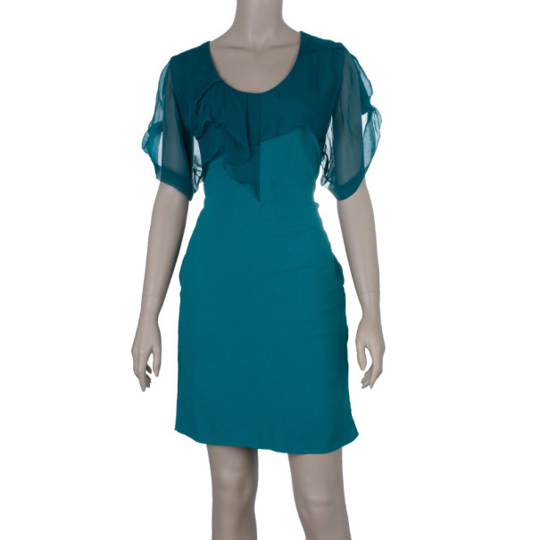 Kenzo Turquoise Shift Dress M