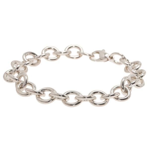 Tiffany & Co. Round Link Silver Bracelet 21CM