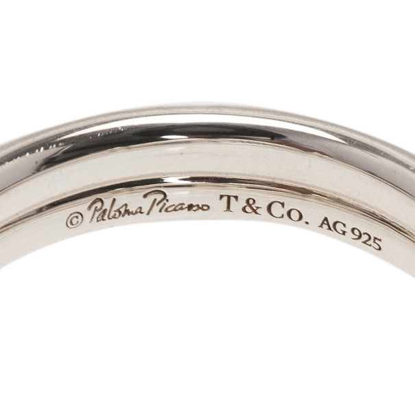 Tiffany & Co. Paloma Picasso Knot Silver Ring Size 68