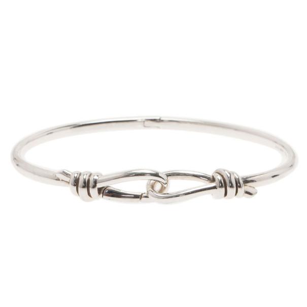 Tiffany & Co. Paloma Picasso Knot Hinged Silver Bangle XL
