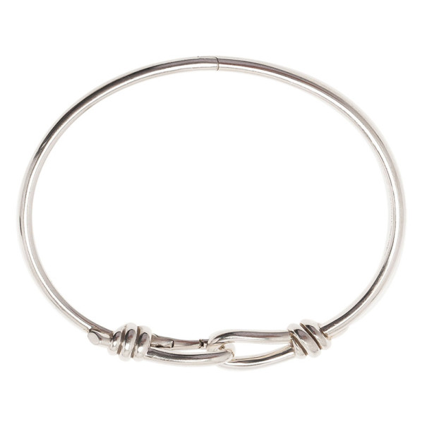Tiffany & Co. Paloma Picasso Knot Hinged Silver Bangle XL